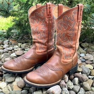 ARIAT round up R Western leather cowgirl boot SZ 7